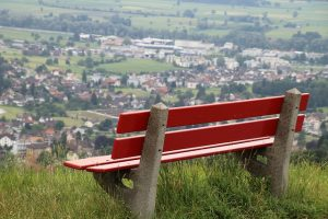 A bench, you will be relaxed when you are hiring a professional mover