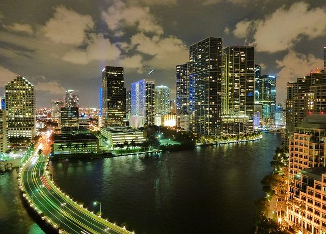 Skylines in night could be a place where you should look when buying a luxury condo in Miami