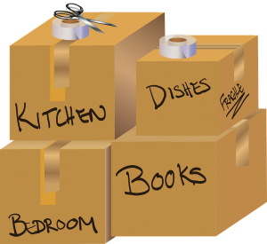 labeled moving boxes - not labeling them is one of the typical moving mistakes