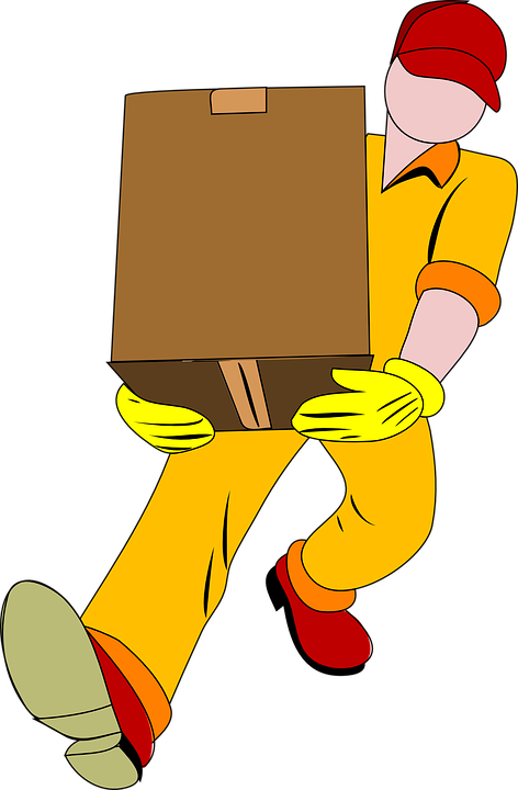 A mover with the box