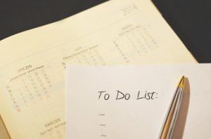 calendar to declutter your home