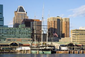 The city of Baltimore - one of the best cities to live in Maryland