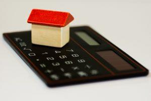 A model house on a calculator.