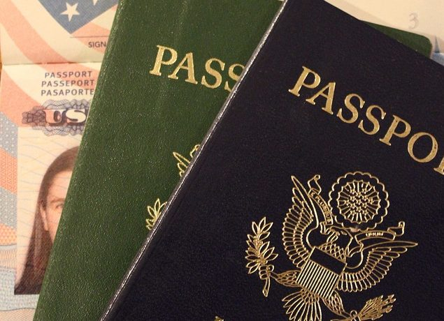 The USA passport for US customs procedures and crossing the border.