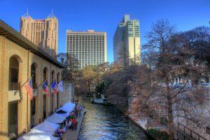 San Antonio park near a river.