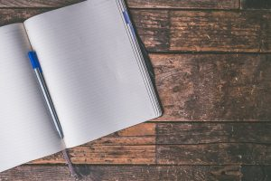 A notebook can be helpful, so you can write down all the things for moving into your new home.