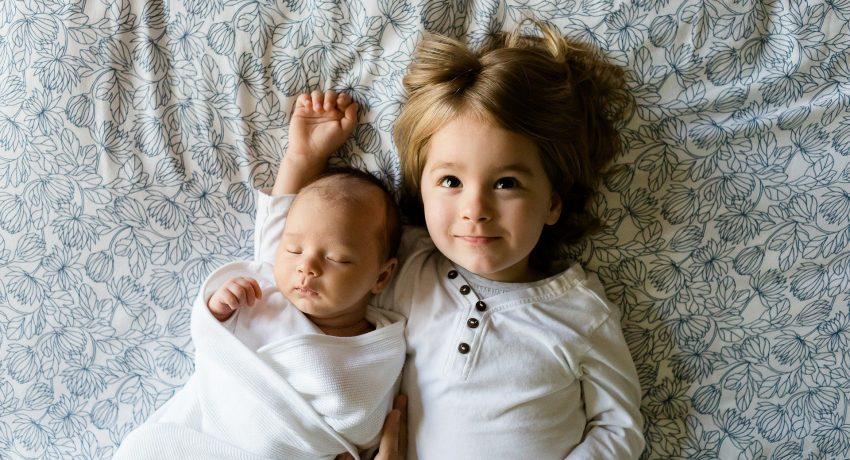 Two small children