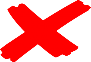 """Red X, a symbol for """"cancel"""""""