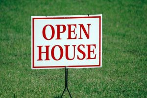 Adding an open home sign after finishing home renovations increase home value.