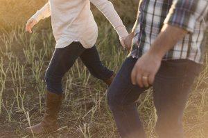 Couple, walking.
