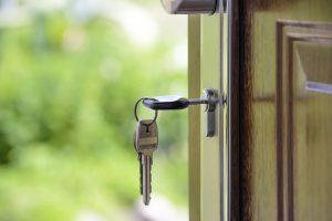 a key in the door