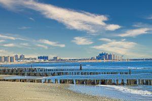 Rockaway Beach in Queens.