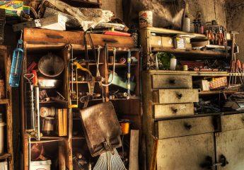 A basement in a mess.