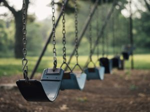 A swing set.