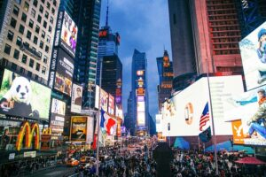 Times square has many fun facts about Midtown.