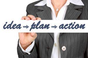 Idea, plan, action.