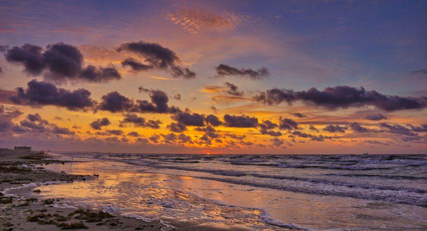 Beach at dawn in Port Aransas, Texas