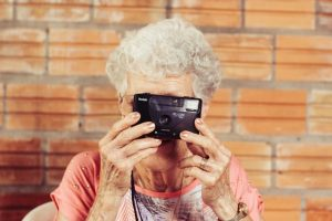 AN elderly lady