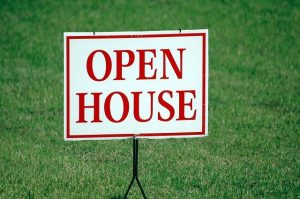 A sign for an open house before staging your West Palm Beach home.
