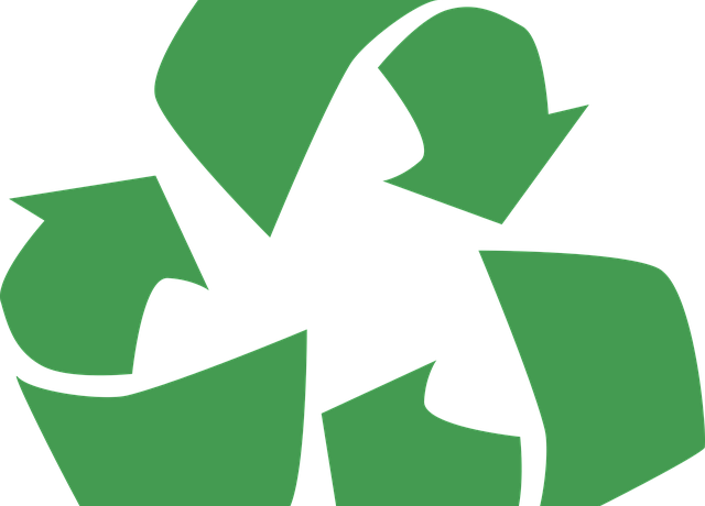 A recycle sign.