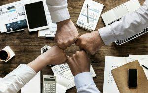 business Team Hands